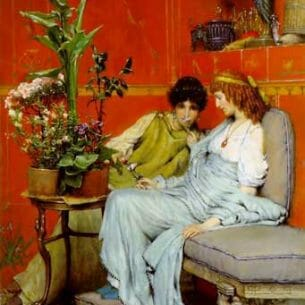 Alma-Tadema, Sir Lawrence: Confidences Oil Painting Reproductions