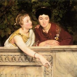 Alma-Tadema, Sir Lawrence: Gallo-Roman Women Oil Painting Reproductions