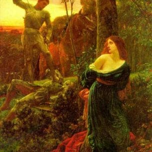Dicksee, Frank(England): Chivalry Oil Painting Reproductions