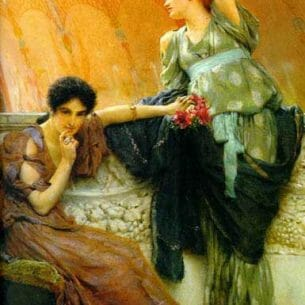 Alma-Tadema, Sir Lawrence: Unconscious Rivals Oil Painting Reproductions