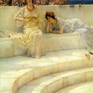 Alma-Tadema, Sir Lawrence: Under the Roof of Blue Ionian Weather Oil Painting Reproductions