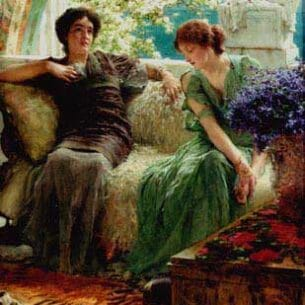 Alma-Tadema, Sir Lawrence: Unwelcome Confidences Oil Painting Reproductions