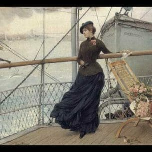 Bacon, Henry(USA): The Departure from New York Harbor Oil Painting Reproductions