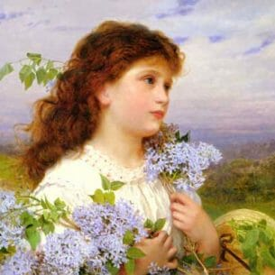 Anderson,Sophie Gengembre: The Time Of The Lilacs Oil Painting Reproductions