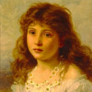 Anderson, Sophie Gengembre: Young Girl Oil Painting Reproductions