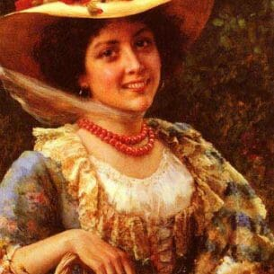 Andreotti, Federico: Straw Hat with Poppies