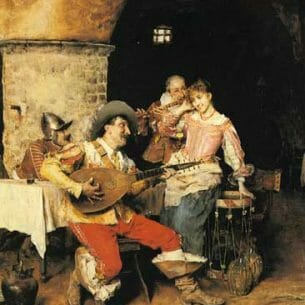 Andreotti, Federico: The Serenade Oil Painting Reproductions
