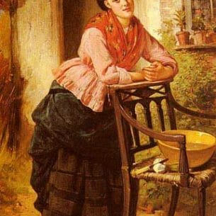 Barnes, Edward Charles: A Rest From Labour Oil Painting Reproductions