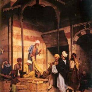 Baugnies, Eugene: La Rue Du Mousky Au Caire Oil Painting Reproductions