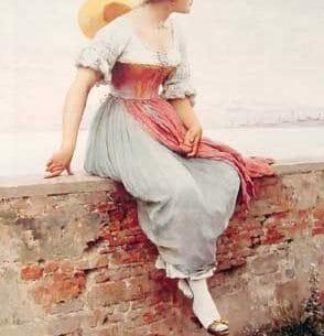 Blaas, Eugene de(Austria): A Pensive Moment Oil Painting Reproductions