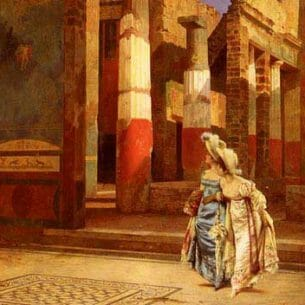 Bazzani, Luigi: A Visit To Pompeii Oil Painting Reproductions