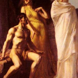 Benner, Emmanuel(France): Hercules Between Virtue And Vice Oil Painting Reproductions