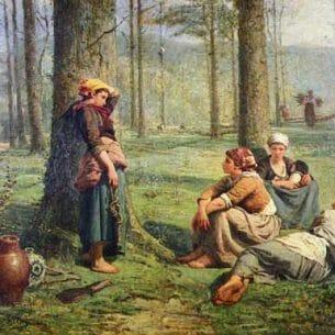Billet, Pierre(France): Ramasseuses De Bois Oil Painting Reproductions