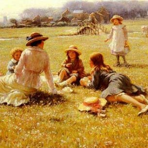 Blacklock, William Kay(France): A Picnic Party Oil Painting Reproductions
