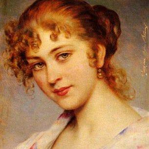 Blaas, Eugene de(Austria): A Portrait Of A Young Lady