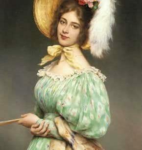 Blaas, Eugene de(Austria): Musette Oil Painting Reproductions