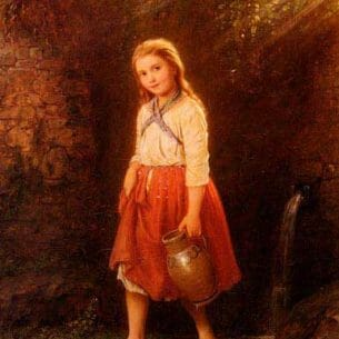 Bremen, Johann Georg Meyer von(Genmany): The Young Water Carrier Oil Painting Reproductions