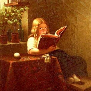 Bremen, Johann Georg Meyer von(Genmany): The Reading Girl Oil Painting Reproductions