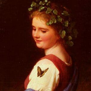 Bremen, Johann Georg Meyer von(Genmany): The Butterfly Oil Painting Reproductions