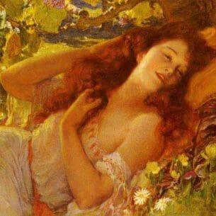Bridgman, Frederick Arthur(USA):  Sweet Nothings Oil Painting Reproductions