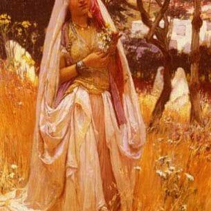 Bridgman, Frederick Arthur(USA): Moorish Girl, Algiers Countryside Oil Painting Reproductions