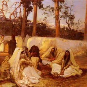 Bridgman, Frederick Arthur(USA): Women at the Cemetery, Algiers Oil Painting Reproductions