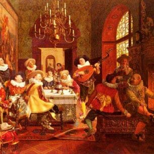 Brunery, François(Italy): A Merry Melody Oil Painting Reproductions