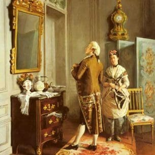 Brunery, François(Italy): Vanity Oil Painting Reproductions