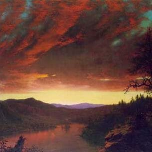 Church, Frederic Edwin: Twilight in the Wilderness Oil Painting Reproductions