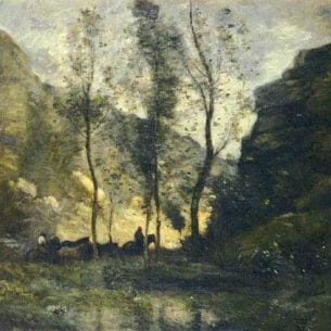 Corot, Jean-Baptiste-Camille: Les Contrebandiers Oil Painting Reproductions