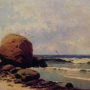 Bricher, Alfred Thompson(USA): Seascape Oil Painting Reproductions