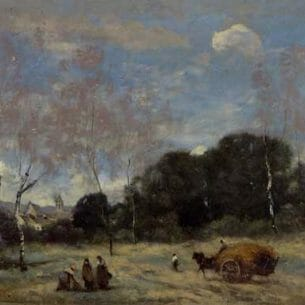 Corot, Jean-Baptiste-Camille – Return of the Hayers to Marcoussis