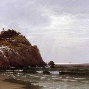 Bricher, Alfred Thompson – A Cloudy Day Oil Painting Reproductions
