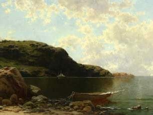 Bricher, Alfred Thompson – Beach Scene Oil Painting Reproductions