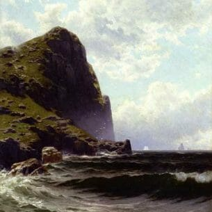 Bricher, Alfred Thompson – Brundith Head, Grand Manan Oil Painting Reproductions