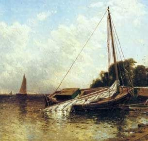 Bricher, Alfred Thompson – Low Tide, Narragansett Bay Oil Painting Reproductions
