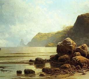 Bricher, Alfred Thompson – Low Tide, Southhead, Grand Manan Island Oil Painting Reproductions