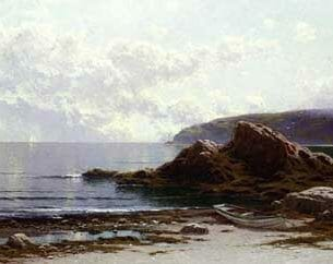 Bricher, Alfred Thompson – Sailing off the Coast Oil Painting Reproductions
