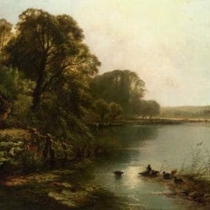 Boddington, Henry John – Early Morning on the Thames Oil Painting Reproductions