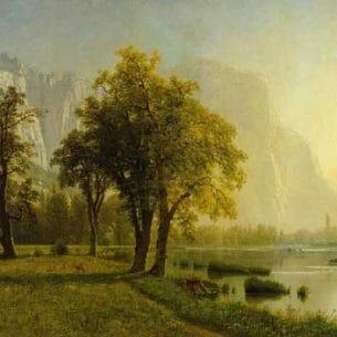 Bierstadt, Albert – El Capitan, Yosemite Valley Oil Painting Reproductions