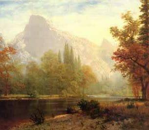 Bierstadt, Albert – Half Dome Yosemite Oil Painting Reproductions