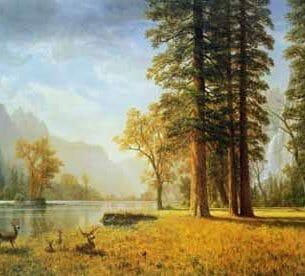 Bierstadt, Albert – Hetch Hetchy Valley, California Oil Painting Reproductions