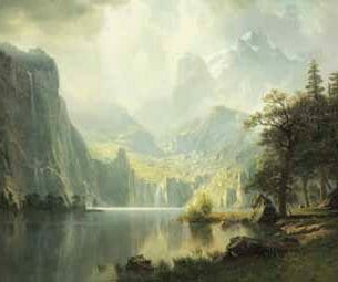 Bierstadt, Albert – In the Mountains Oil Painting Reproductions