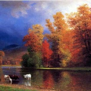 Bierstadt, Albert(USA) – On the Saco Oil Painting Reproductions