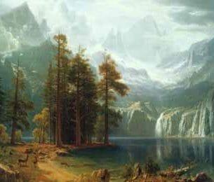 Bierstadt, Albert(USA) – Sierra Nevada in California Oil Painting Reproductions