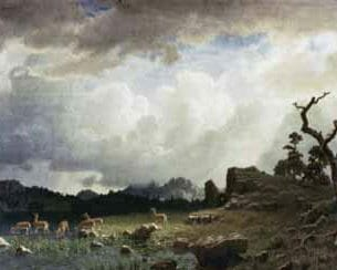 Bierstadt, Albert(USA) – Thunderstorm in the Rocky Mountains