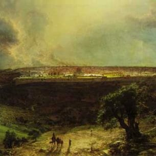Church, Frederic Edwin – Jerusalem from the Mount of Olives Oil Painting Reproductions