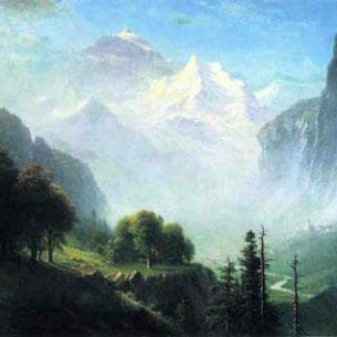 Bierstadt, Albert (USA): Staubbach Falles(Switzerland) Oil Painting Reproductions