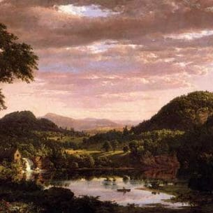 Church, Frederic Edwin – New England Landscape Oil Painting Reproductions