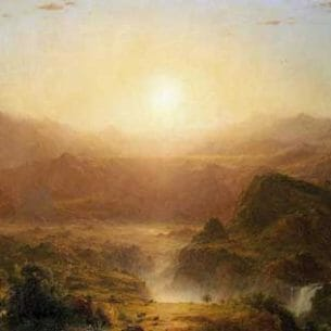 Church, Frederic Edwin – The Andes of Ecuador Oil Painting Reproductions